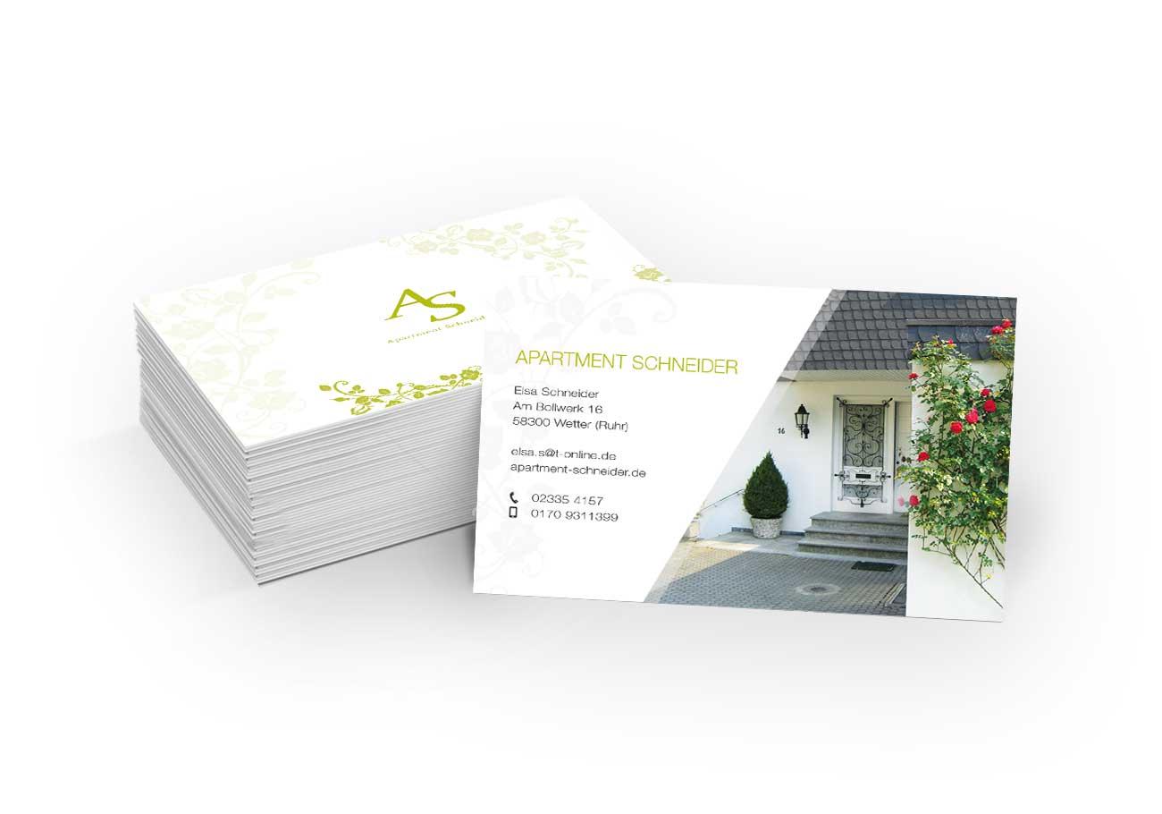 Apartment Schneider Visitenkarten