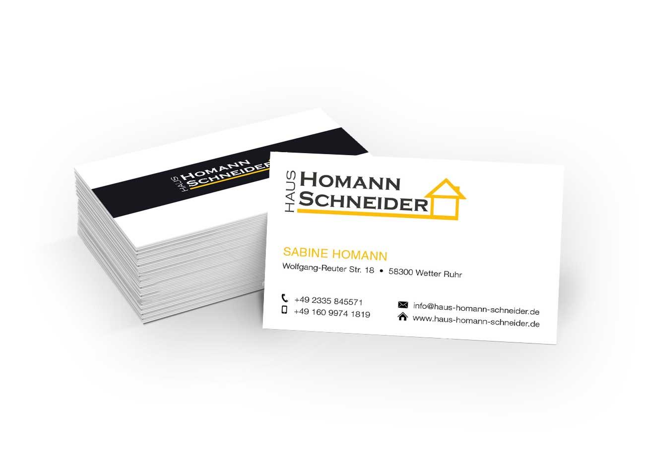 Haus Homann-Schneider Visitenkarten