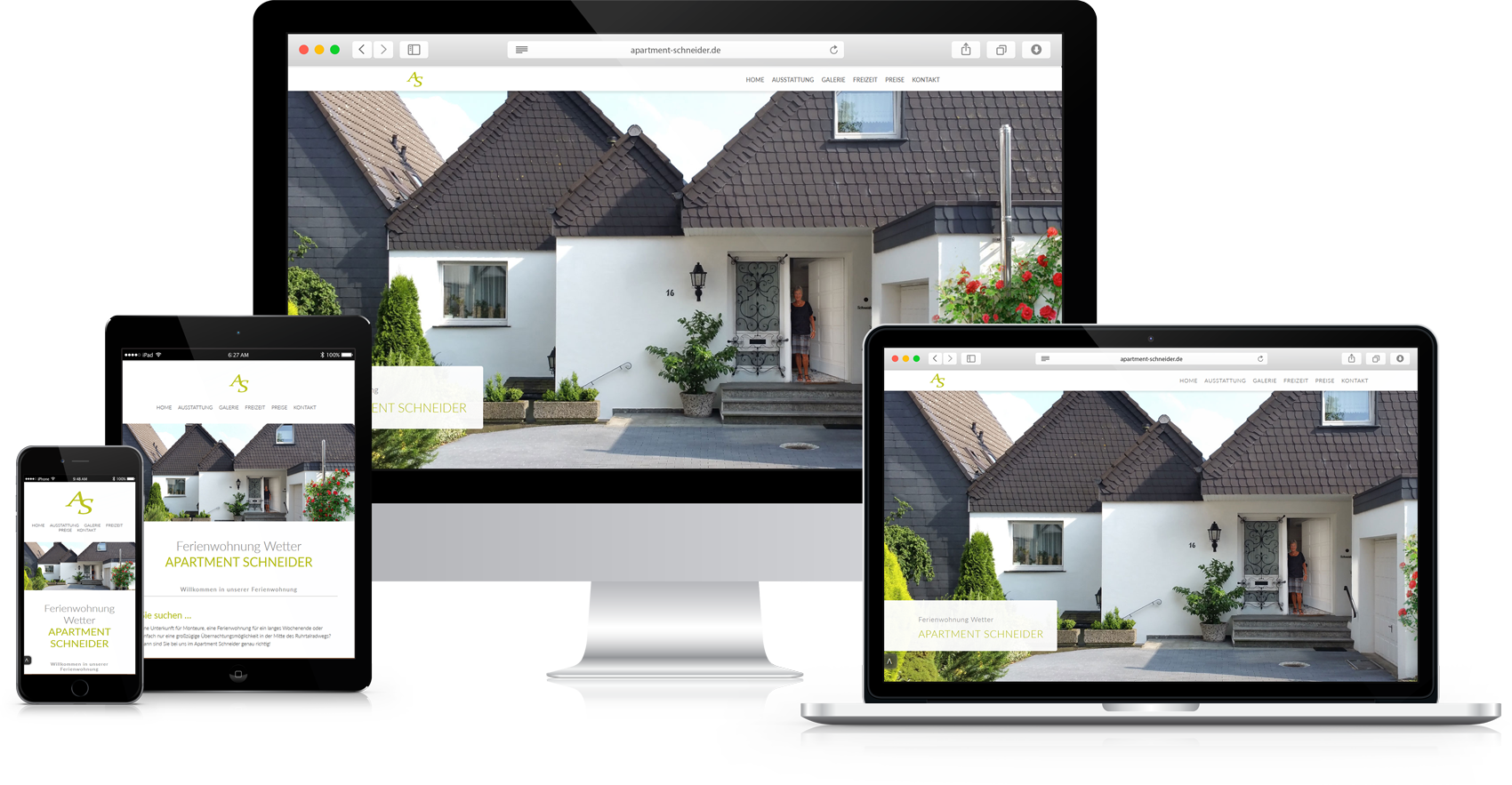 Responsive Website Apartment Schneider