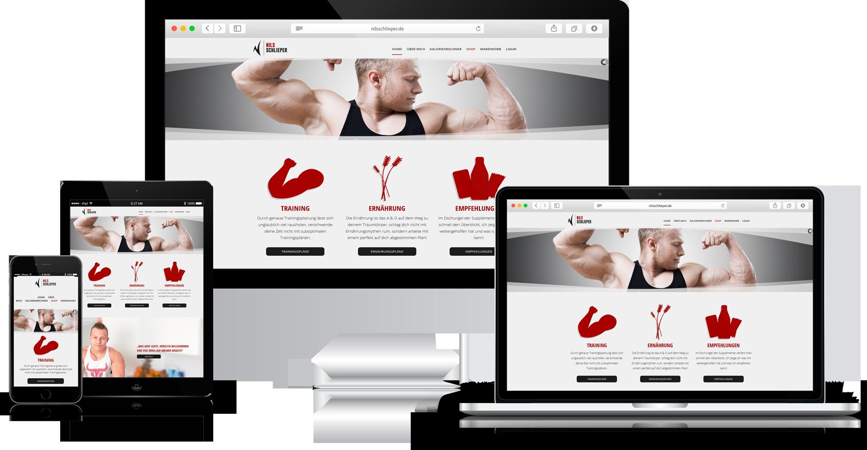 Responsive Website Nils Schlieper Fitness Youtuber