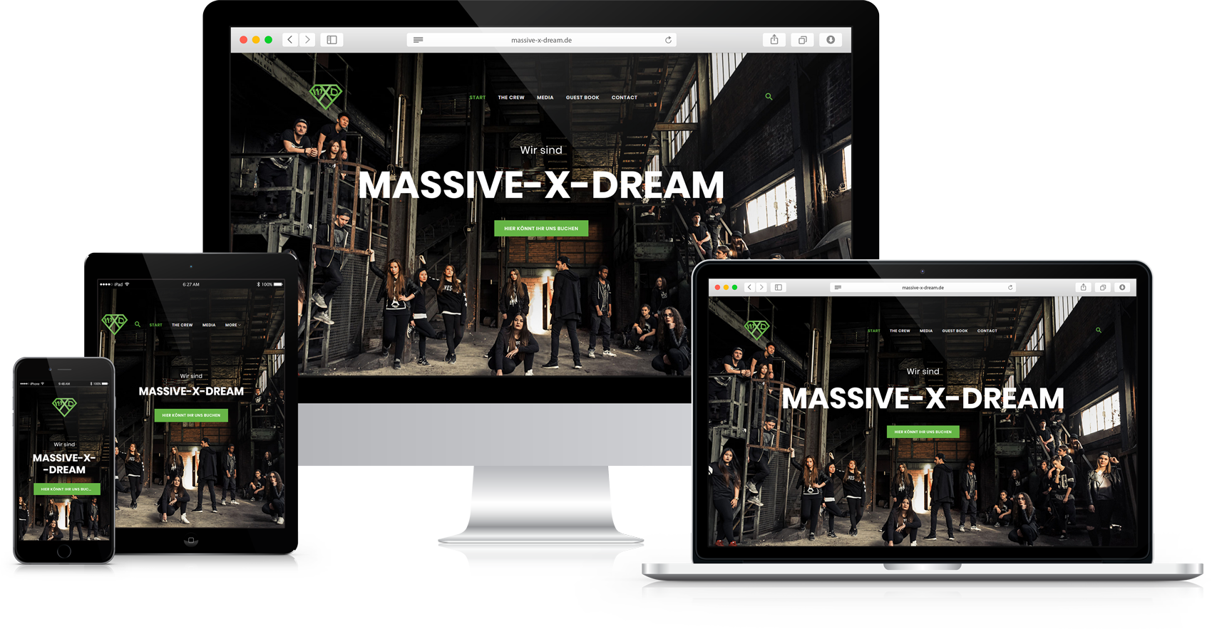 Responsive Website Massive-X-Dream