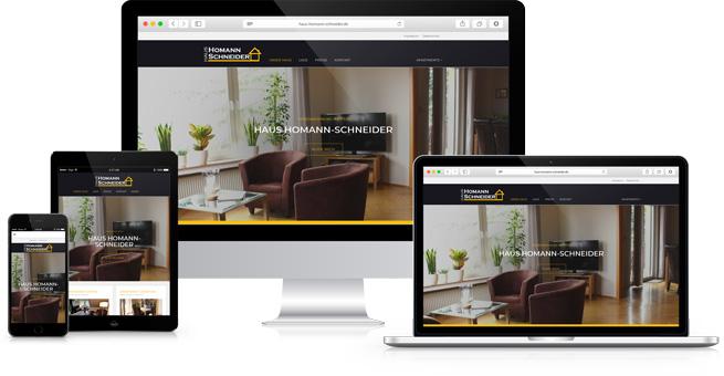 Haus Homann-Schneider Responsive Website