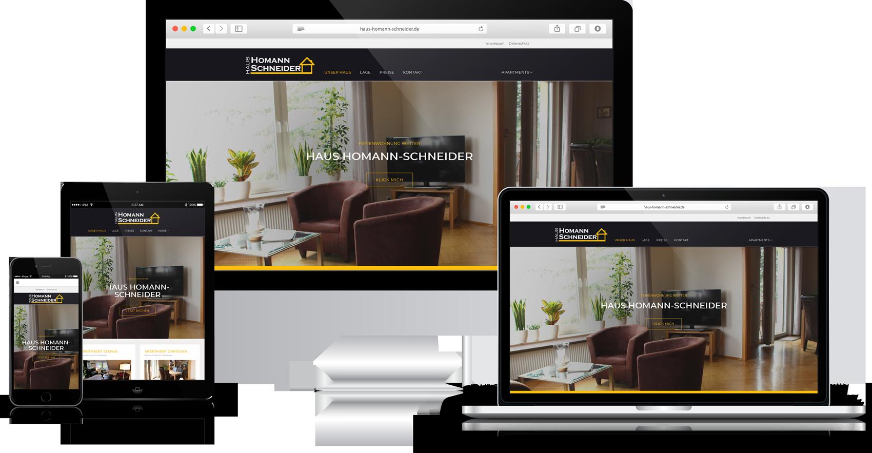 Responsive Website Haus Homann-Schneider